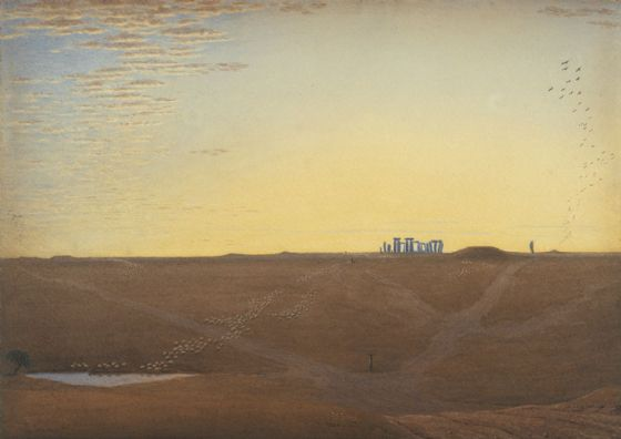 Turner, Joseph Mallord William: Stonehenge - Twilight. Fine Art Print/Poster. Sizes: A1/A2/A3/A4 (004151)